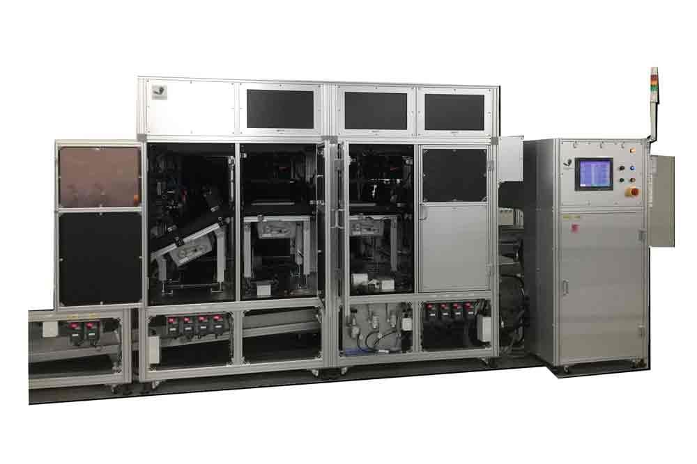 トイレットペーパー外観検査装置 4レーン装置